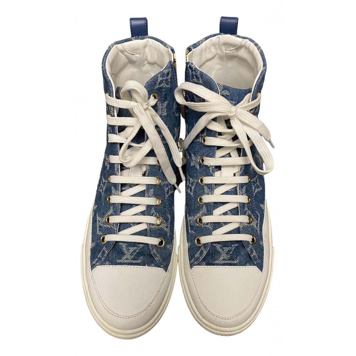 Louis Vuitton Stellar Sneakers in  Blau Leinen