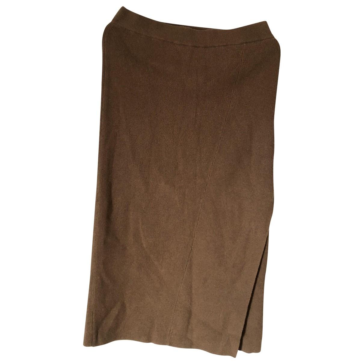 Filippa K - Jupe   pour femme en laine - marron