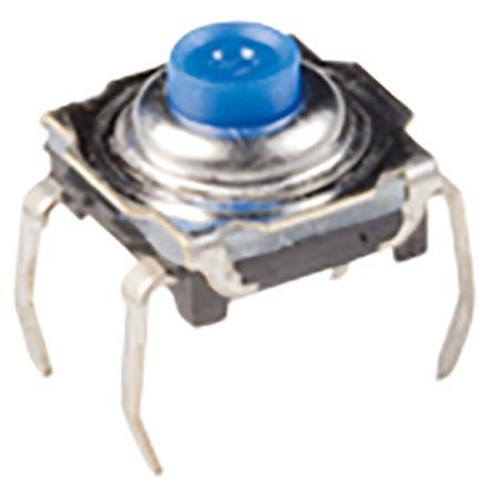 C & K IP60 Top Tactile Switch, Single Pole Single Throw (SPST) 50 mA 4.7mm Through Hole