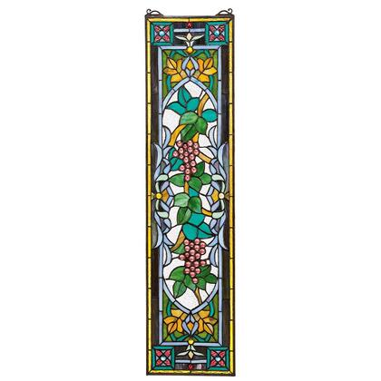 TF773 Grapes On The Vine Stained Glass Window