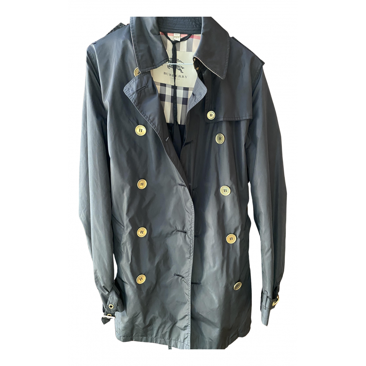 Burberry \N Trench in  Schwarz Polyester