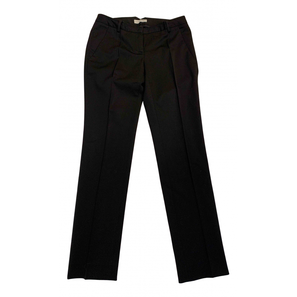 Costume National N Black Wool Trousers for Women 38 IT