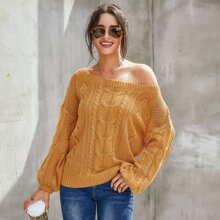 Jerseis Cut-out Liso Mostaza Amarilla Casual