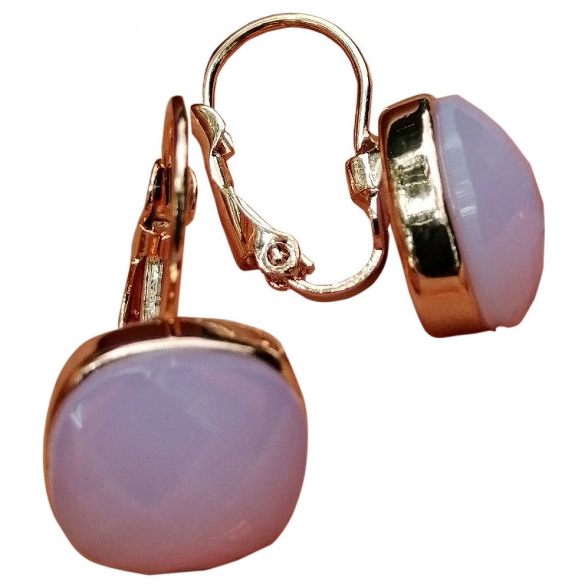 Non Signé / Unsigned Améthyste Purple Metal Earrings for Women \N