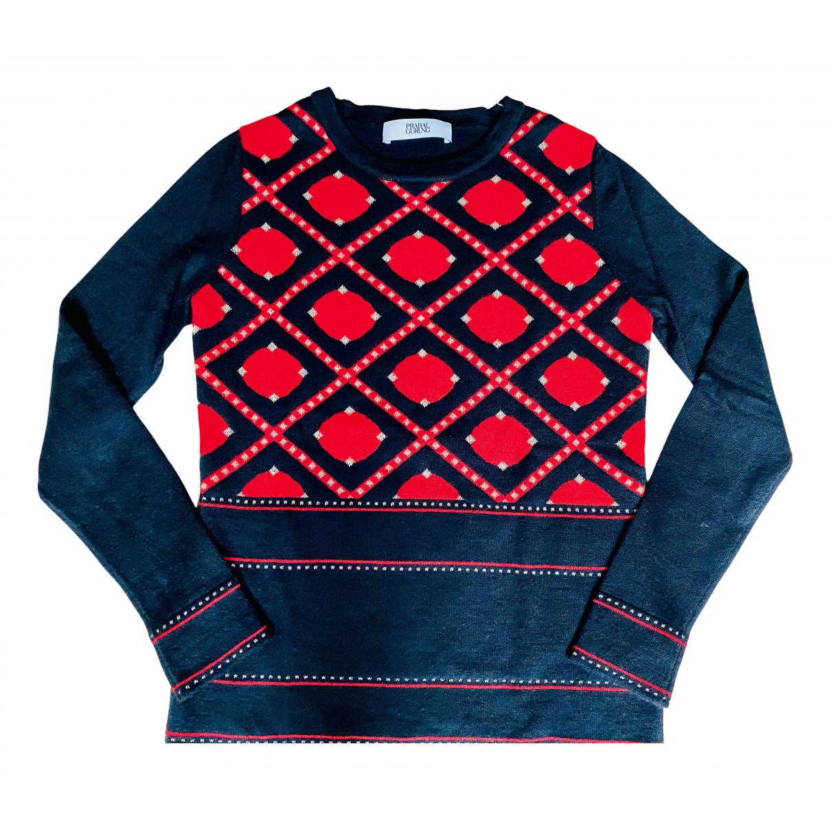 Prabal Gurung \N Pullover in  Schwarz Wolle