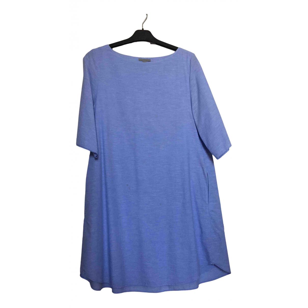 Cos - Robe   pour femme en coton - turquoise