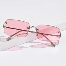 Randlose Sonnenbrille mit Etui