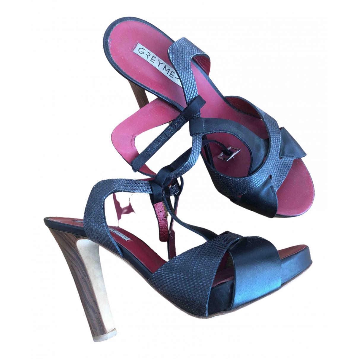 Greymer \N Black Leather Heels for Women 38 EU