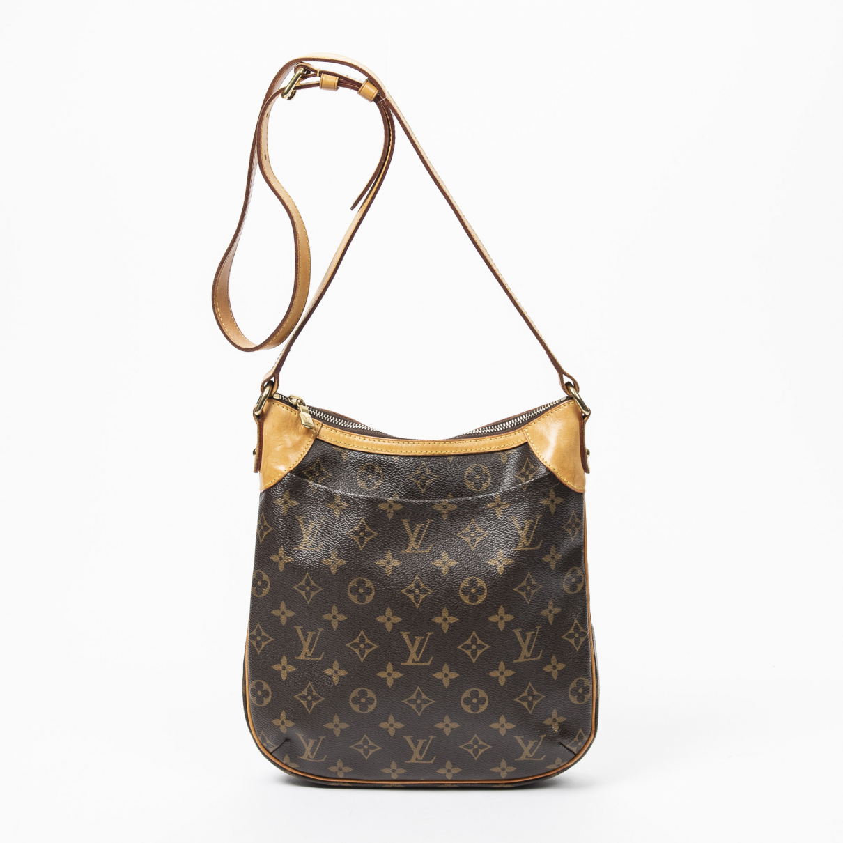 Louis Vuitton Odeon Handtasche in  Braun Baumwolle