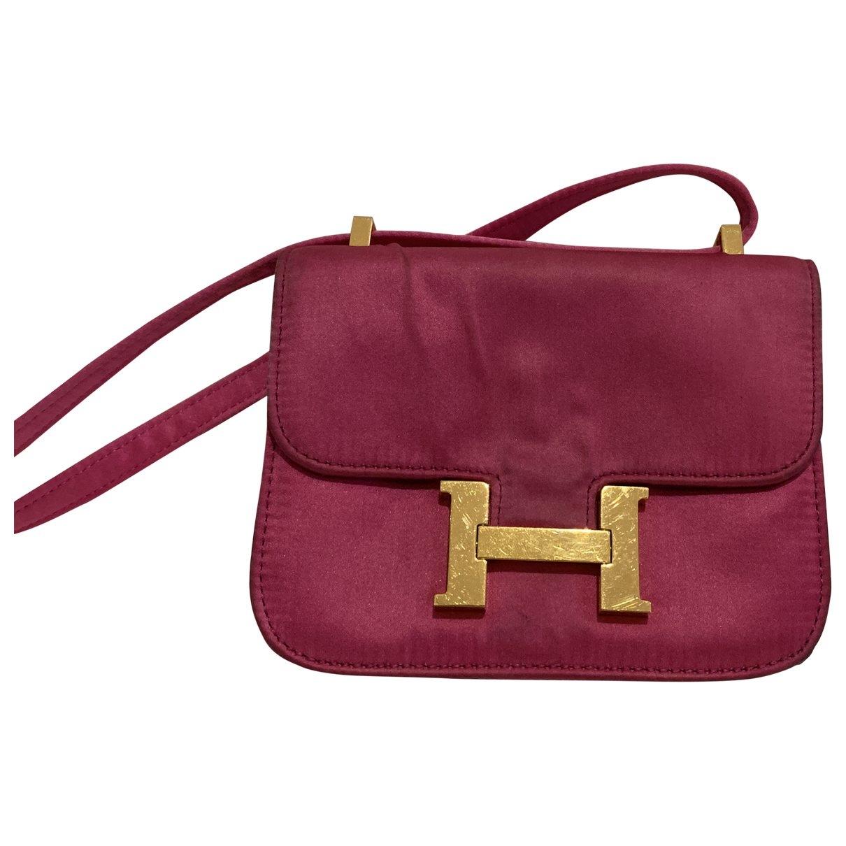 Hermès Constance Purple Cloth handbag for Women \N