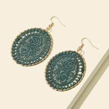 Braided Oval Drop Earrings
