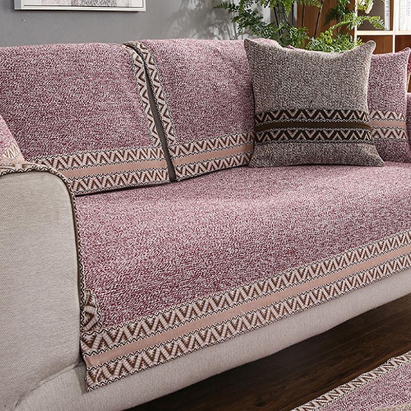 All Seasons Simple Style Anti-Slip Plain Sofa Covers
