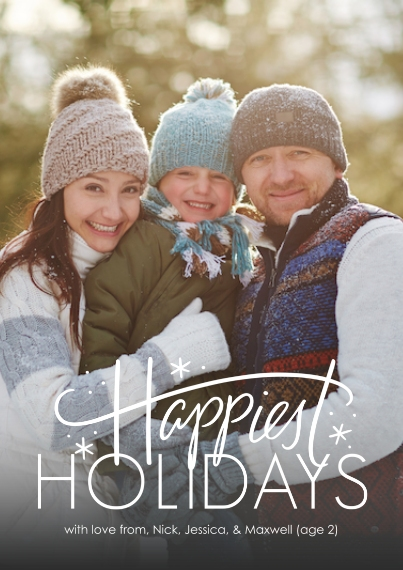 Christmas Photo Cards Flat Matte Photo Paper Cards with Envelopes, 5x7, Card & Stationery -Happiest Burst