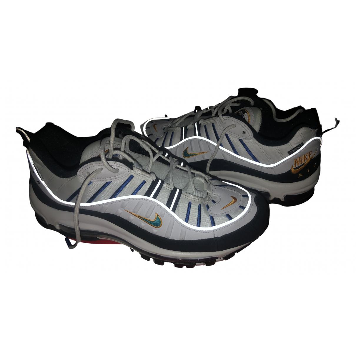 Nike Air Max 98 Sneakers in  Weiss Leder