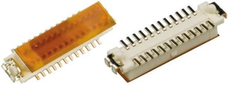 Hirose , DF9 1mm Pitch 25 Way 2 Row Straight PCB Socket, Surface Mount, Solder Termination (5)