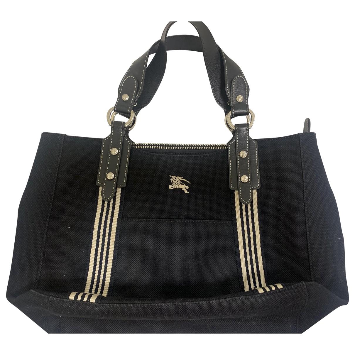 Burberry \N Black Cloth handbag for Women \N