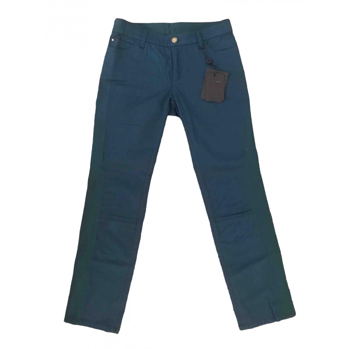Louis Vuitton \N Green Cotton Trousers for Women 36 FR