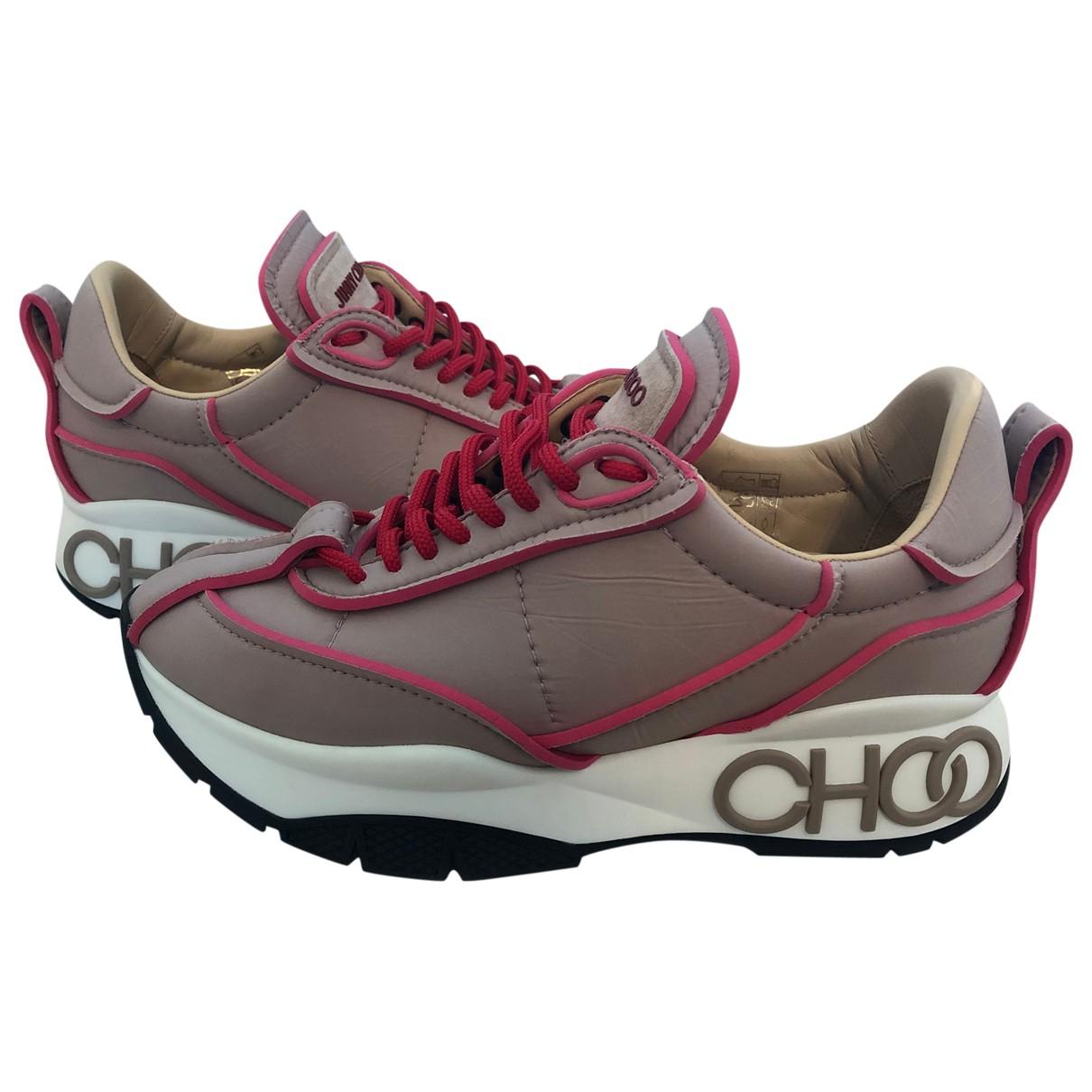 Jimmy Choo \N Sneakers in  Beige Leder