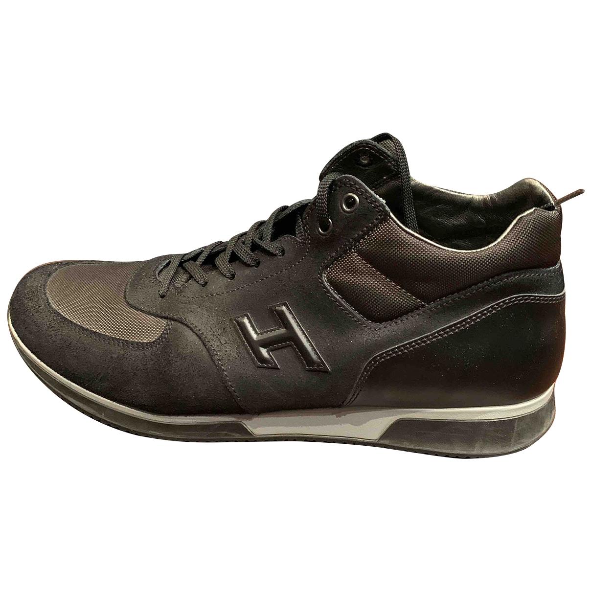 Hogan - Baskets   pour homme en toile - noir