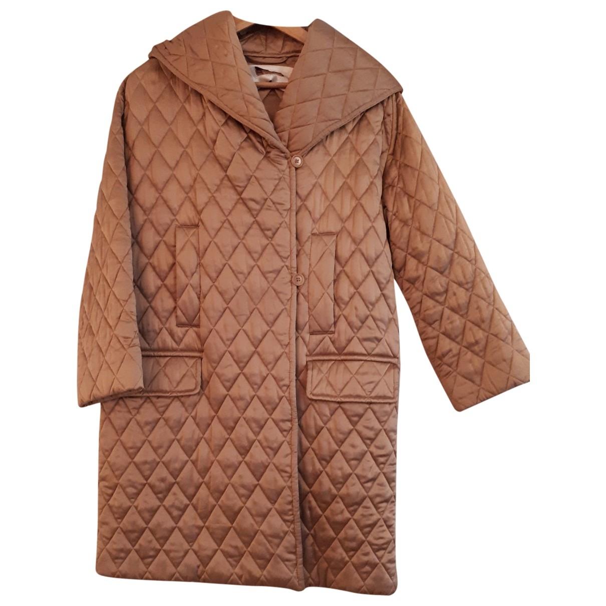Max Mara \N Gold Silk coat for Women 42 IT