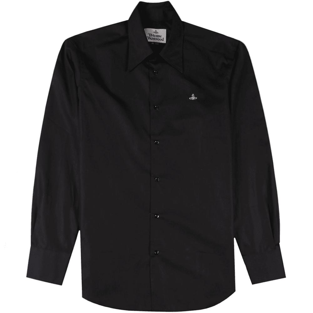 Vivienne Westwood Single Button Shirt Colour: BLACK, Size: MEDIUM