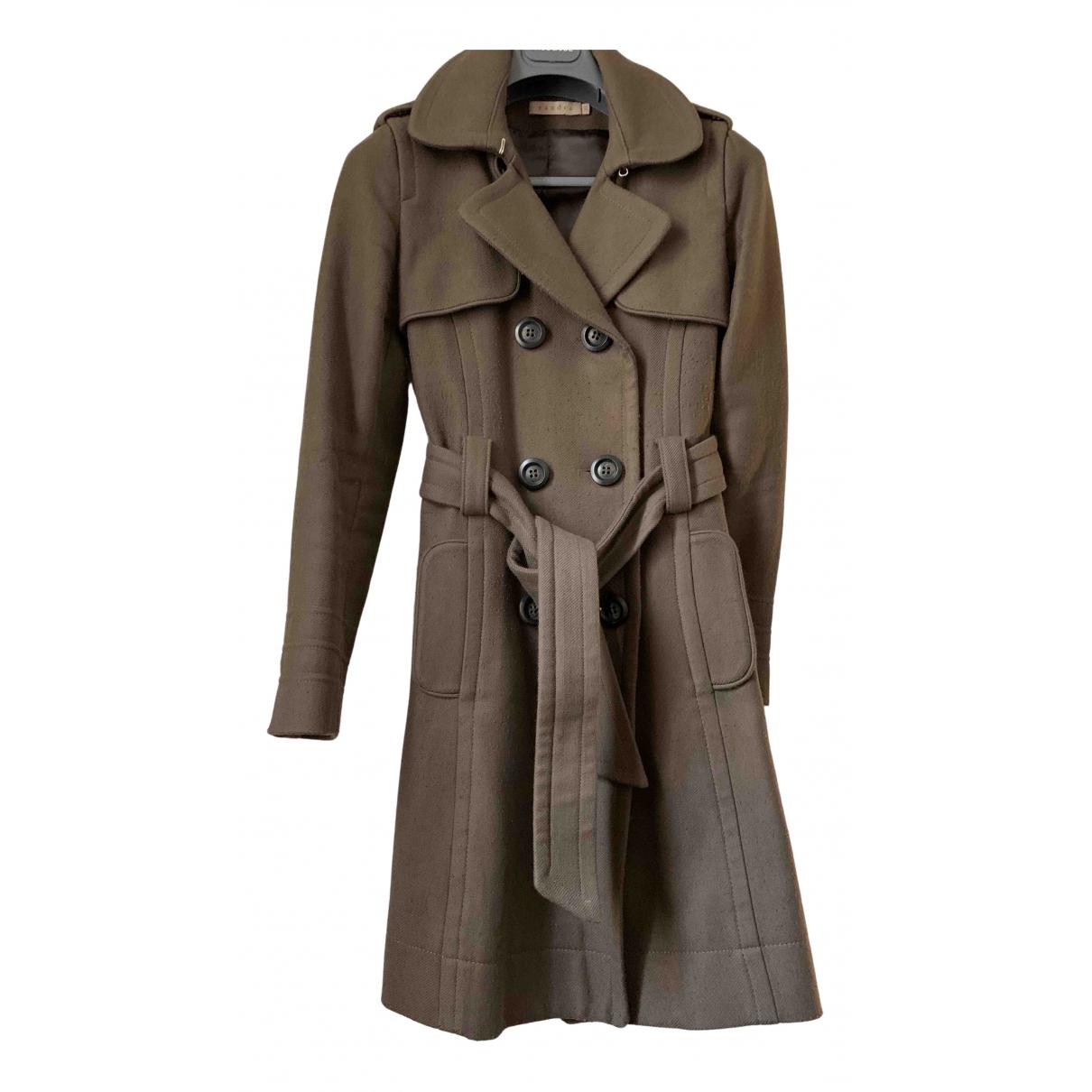 Sandro N Khaki Cotton coat for Women 36 FR