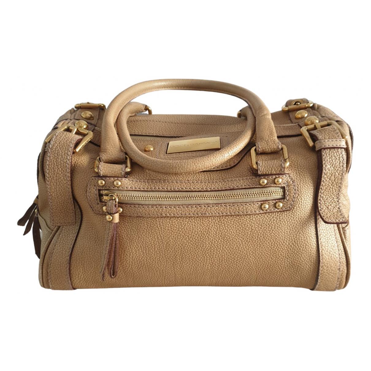 Dolce & Gabbana - Sac a main   pour femme en cuir exotique - beige