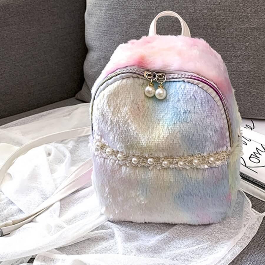 LW Lovely Stylish Tie-dye Light Pink Backpack
