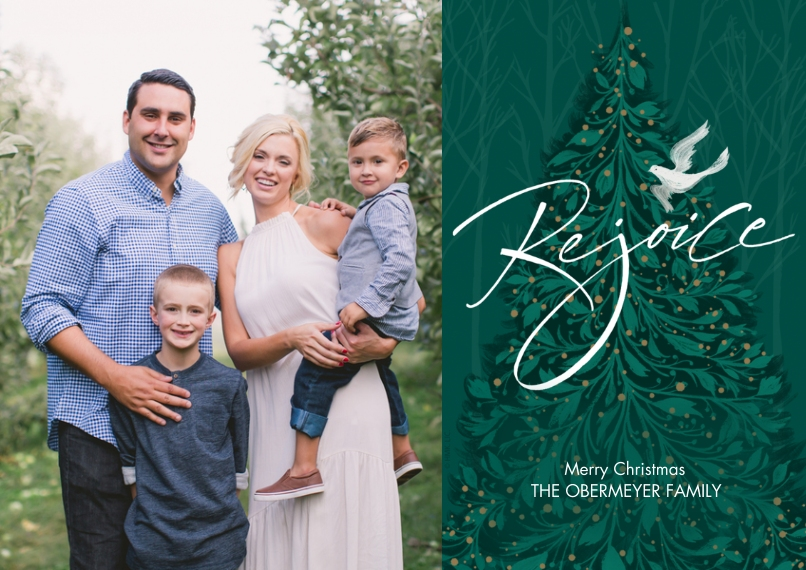 Christmas Photo Cards Flat Glossy Photo Paper Cards with Envelopes, 5x7, Card & Stationery -Rejoice Christmas Wishes Photo Card by Hallmark