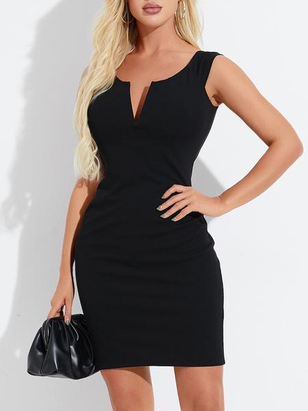 YOINS V-neck Sleeveless Thick Strap Dress