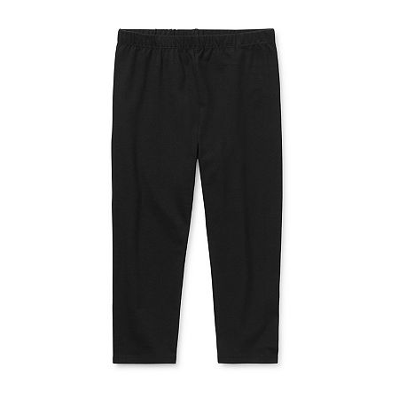 Arizona Little & Big Girls Capri Legging, 2x-large (20.5) Plus , Black