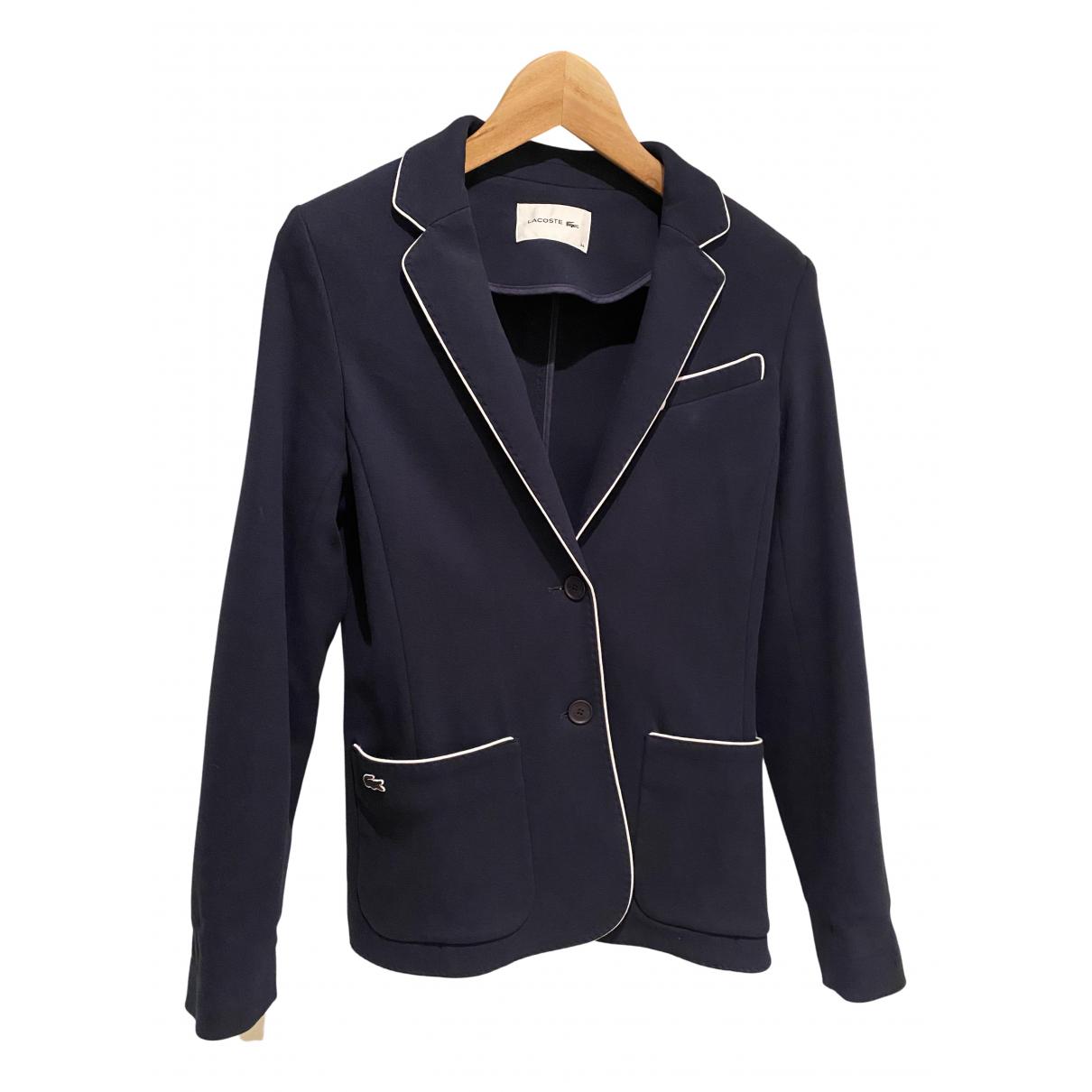 Lacoste - Veste   pour femme en coton - bleu