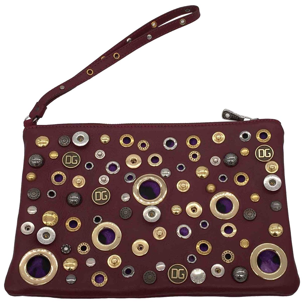 Dolce & Gabbana \N Burgundy Leather Clutch bag for Women \N