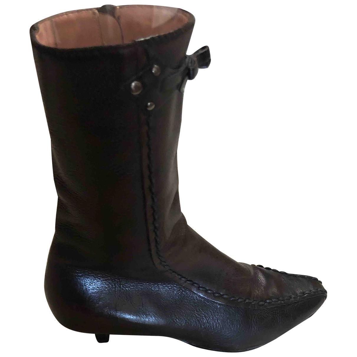 Miu Miu \N Stiefel in  Braun Leder