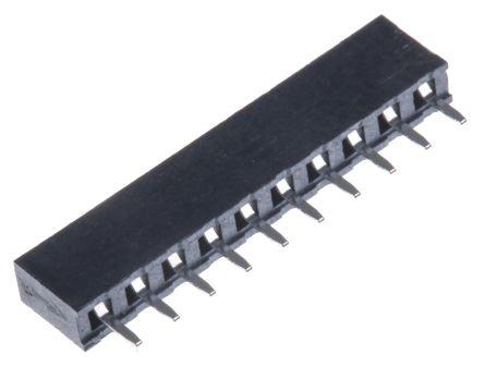 HARWIN 2mm Pitch 10 Way 1 Row Straight PCB Socket, Through Hole, Solder Termination (5)