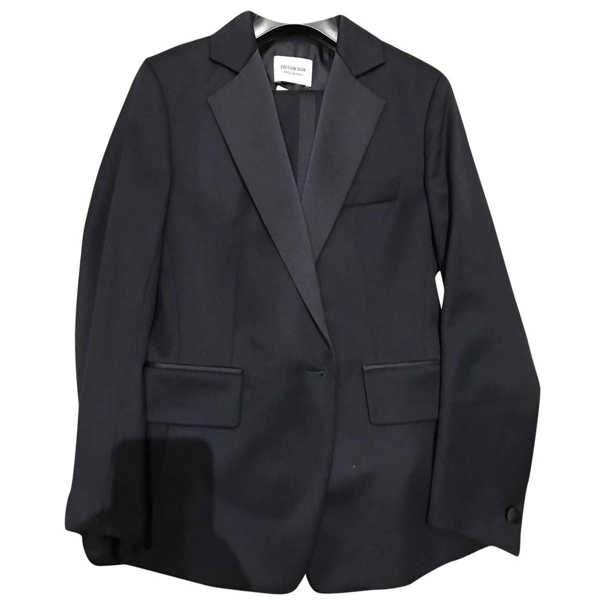 Yves Saint Laurent \N Blue Wool jacket for Women 34 FR