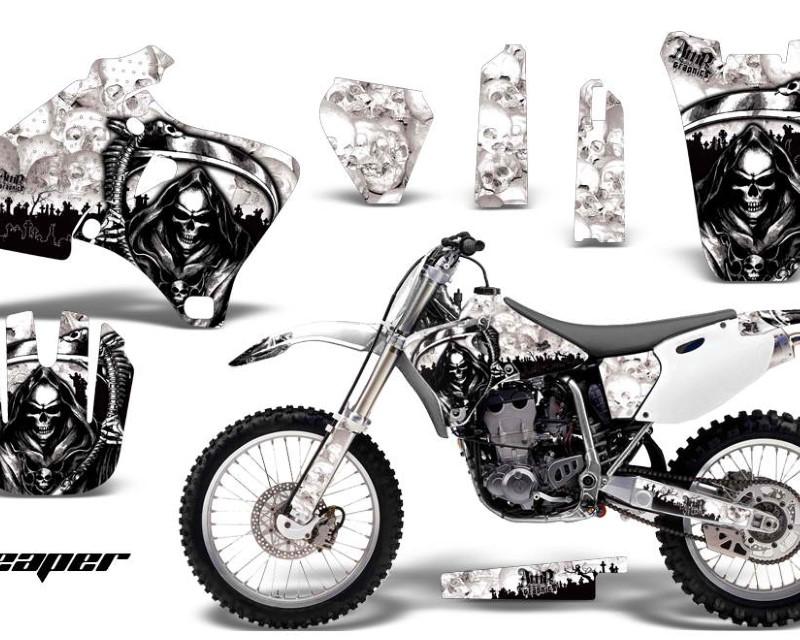 AMR Racing Dirt Bike Graphics Kit Decal Wrap For Yamaha YZ 250F/400F/426F 1998-2002áREAPER WHITE