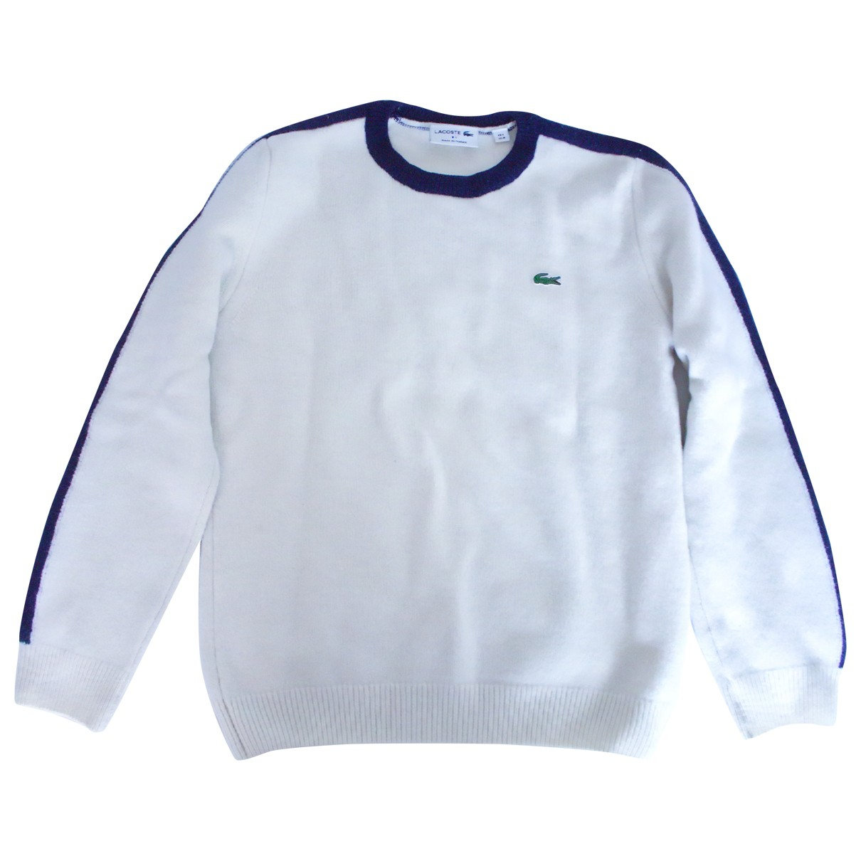 Lacoste \N Pullover.Westen.Sweatshirts  in  Weiss Wolle