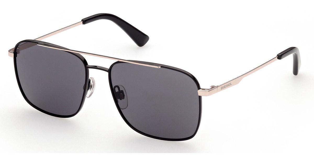 Diesel DL0295 28A Men's Sunglasses Black Size 55