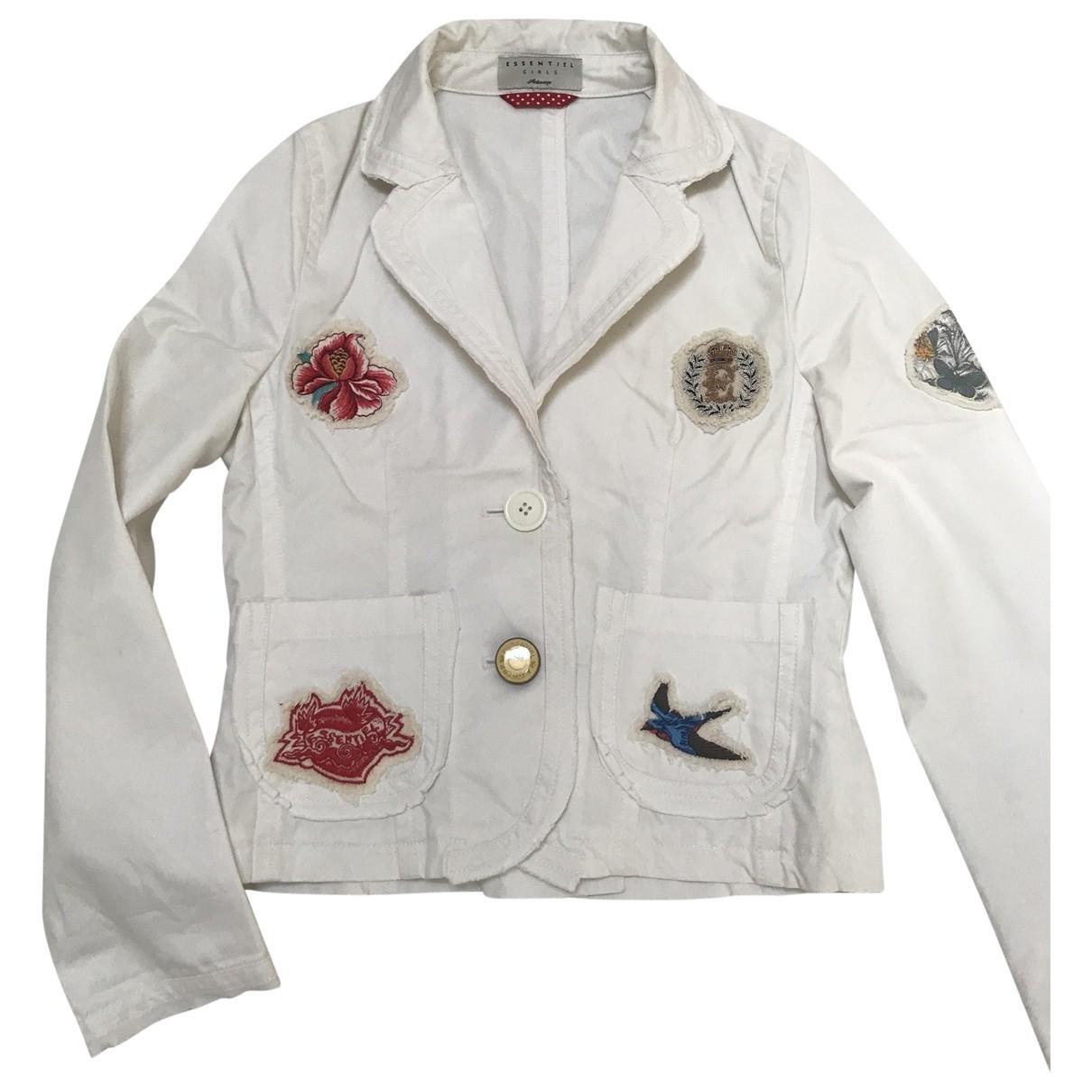 Essentiel Antwerp - Blousons.Manteaux   pour enfant en coton - blanc