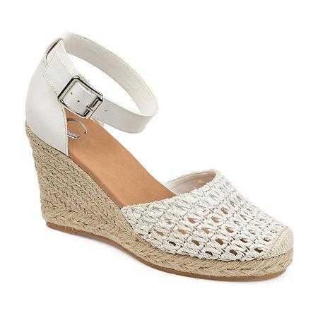 Journee Collection Womens Sierra Pumps Wedge Heel, 11 Medium, White