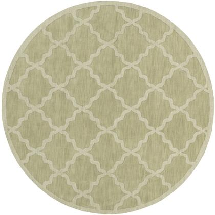 AWHP4016-6RD 6' Round Rug  in Grass