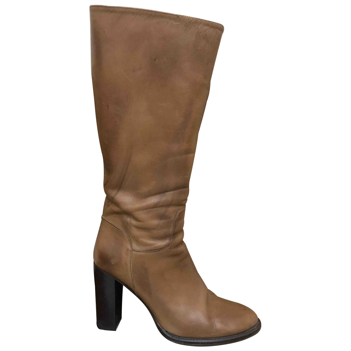 Black Dioniso \N Brown Leather Boots for Women 39 EU