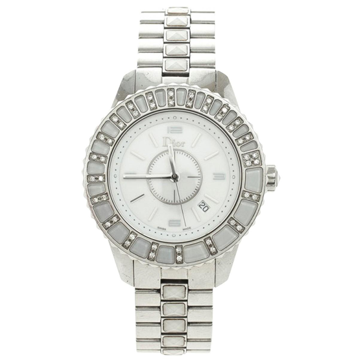 Dior Christal Uhr in  Silber Stahl
