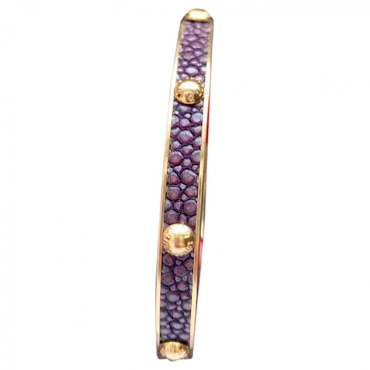 Louis Vuitton Empreinte Armband in  Braun Metall