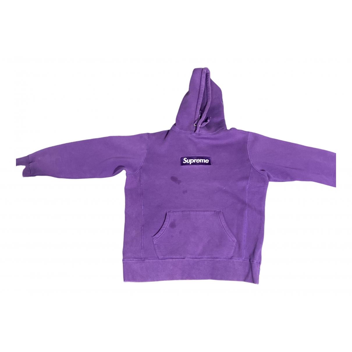 Supreme \N Pullover.Westen.Sweatshirts  in  Lila Baumwolle
