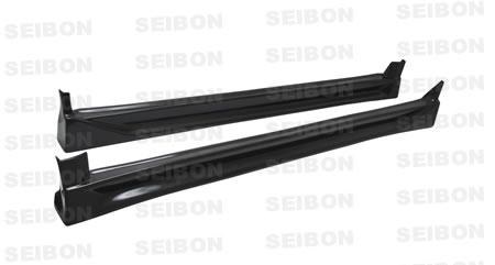 Seibon SS0405SBIMP-CW Carbon Fiber CW-Style Side Skirts Subaru WRX STI 04-05