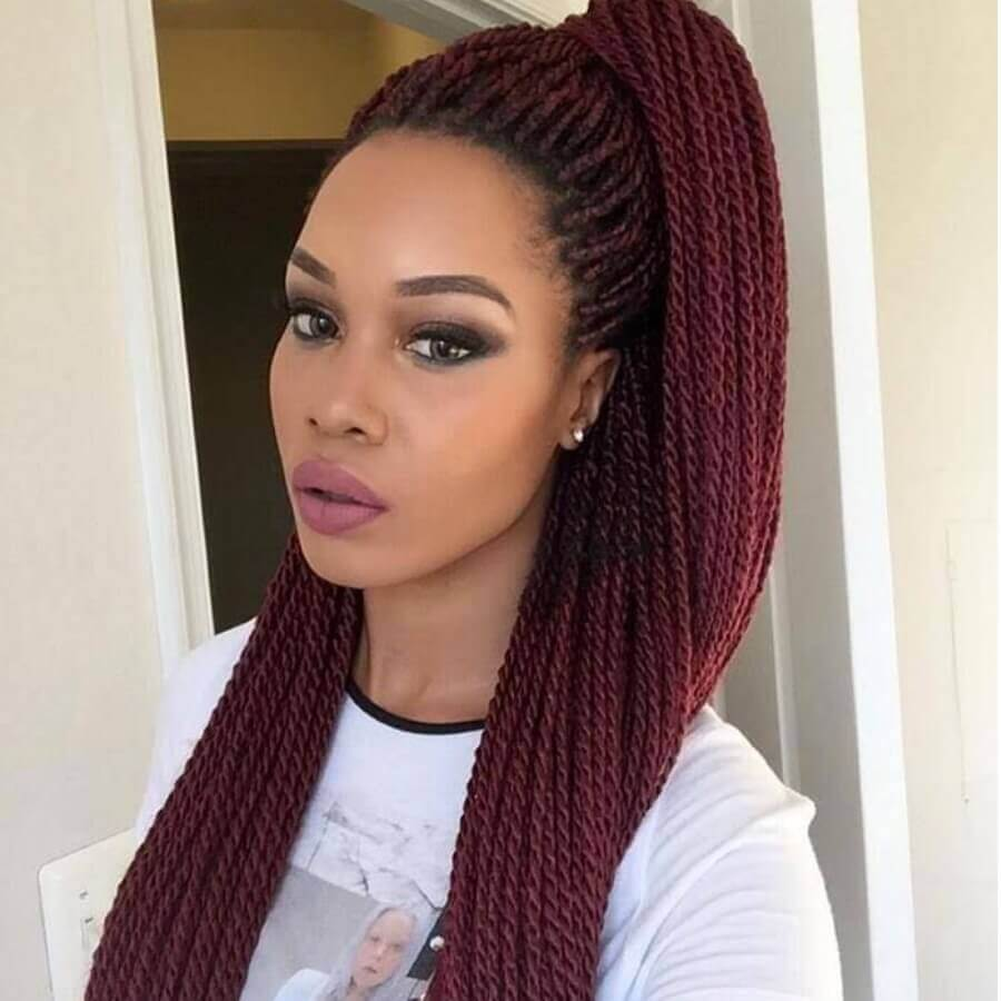 LW Lovely Stylish Long Wine Red Wigs