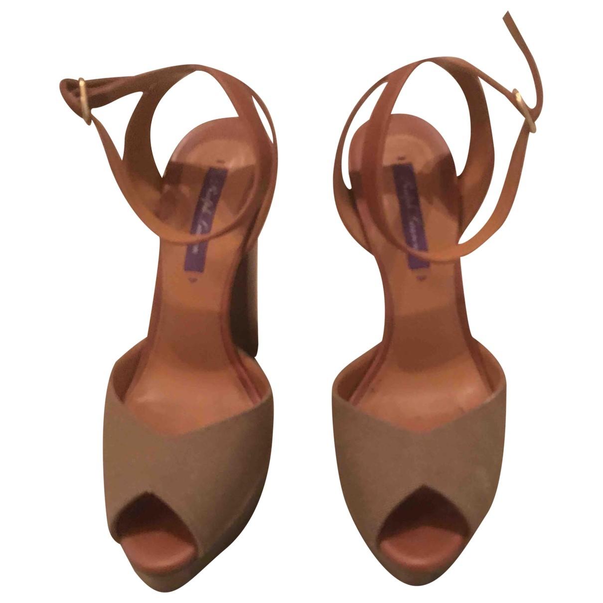 Ralph Lauren Collection \N Khaki Cloth Sandals for Women 37 EU