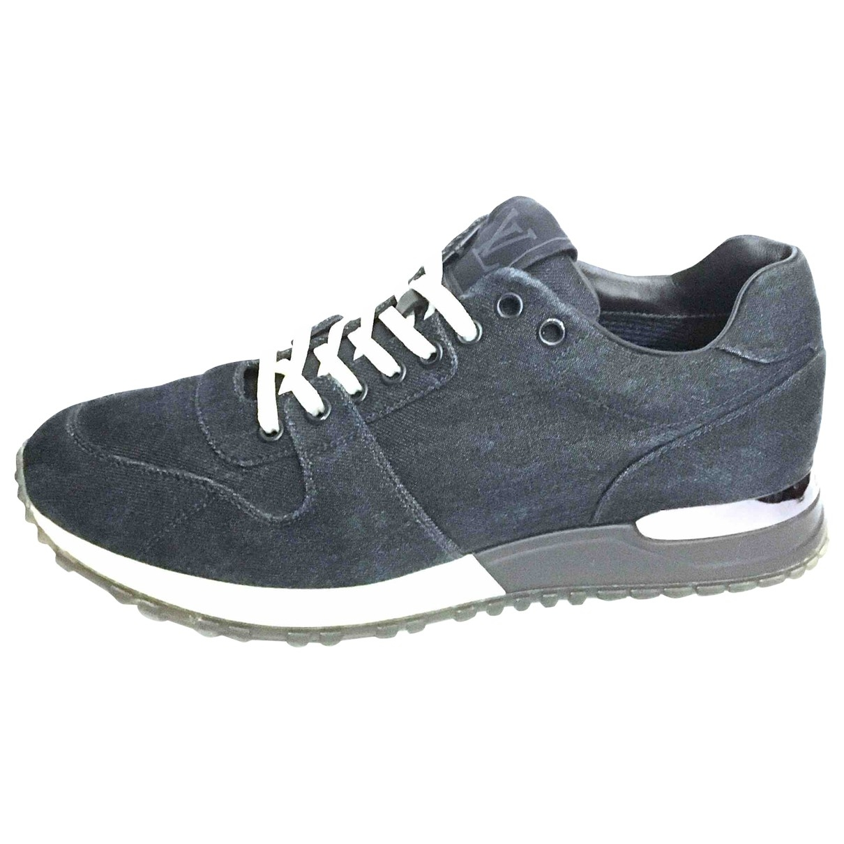 Louis Vuitton \N Navy Cloth Trainers for Women 5.5 UK